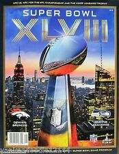 TWO 2014 Super Bowl XLVIII 48 Official Programs Seattle Seahawks Denver Broncos