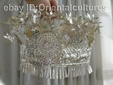 Vintage  Exotic Chinese Handmade Miao Silver hat headgear