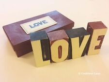Printers Block Letters Love - Gift Box - Home Sign Vintage Retro - East of India