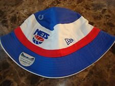 NEW JERSEY NETS   NEWERA  S/M  BAR SCRIPT   hat cap BUCKET FLOPPY BEACH