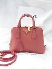 NEW Prada Saffiano Lux Promenade Satchel Shoulder Bag BL0838, Pink $1780