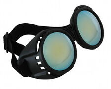 SteamPunk Cosplay Goth Industrial Black and Blue Goggles, NEW UNUSED