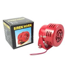 RED CAR TRUCK ALARM LOUD METAL COMPACT MOTOR DRIVEN AIR RAID HORN 3'' DC 12V