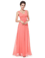 Long Chiffon Bridesmaid Formal Gown Ball Party Cocktail Evening Prom Dress 08110