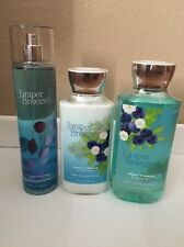 BATH AND BODY Works Juniper Breeze Body  Lotion, Shower Gel And Frag Mist