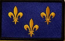 Île-de-France Flag Iron-On Patch Tactical Morale Emblem Black Border Version II