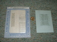 Microscale  decals N 60-837 Northern Pacific cov. hoppers PSS 3 bay ACF 2 3  F84