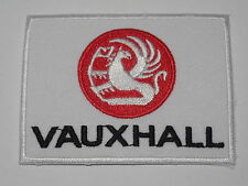MOTORSPORTS RACING CAR SEW ON / IRON ON PATCH:- VAUXHALL CARS VANS RED GRIFFIN
