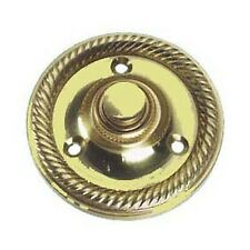 Solid Polished Brass Round Georgian style Door Bell Push / Switch (PB33)