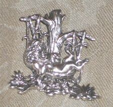 VINTAGE LARGE DISNEY LION KING SIMBA STERLING SILVER 3D BROOCH PENDANT