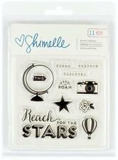 American Crafts Shimelle STARSHINE 11pc Clear Stamps Scrapbook Planner