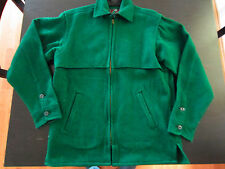 Vintage Men's Johnson Woolen Mills Heavy Shirt Jacket Coat Size Medium Green