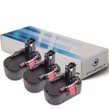 Lot de X3 batteries 14.4V 3000mAh pour BOSCH GHO 14.4 V  - Société Française -