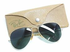 Vintage WWII Ray Ban General 58mm Aviator 1/10 12K G.F. Sunglasses With Case