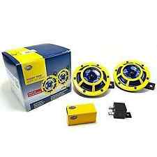 HELLA SUPERTONE PANTHER YELLOW DUAL HORN UNIVERSAL +RELAY+WIRING 100 % AUTHENTI