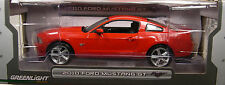 GREENLIGHT COLLECTIBLES 1:18 SCALE DIECAST METAL RED 2010 FORD MUSTANG GT
