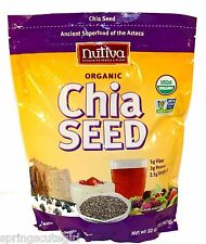 1 Bag Nutiva ORGANIC CHIA SEED Ancient Super food Of The Aztecs 32 oz