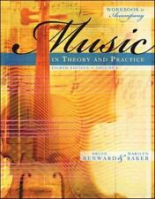 Workbook t/a Music in Theory and Practice, Volume I, Saker, Marilyn, Benward, Br