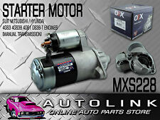 STARTER MOTOR SUIT FORD COURIER PC 2.6lt 4G54 4CYL 1988 - 1996 (MANUAL TRANS)