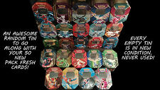 POKEMON 50 CARD LOT - 50 CARDS WITH AN EMPTY TIN FOR STORAGE! GREAT GIFT!