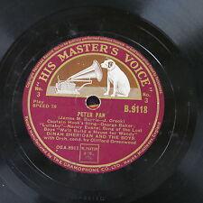 78rpm DINAH SHERIDAN & THE BOYS peter pan , sides 3 & 4