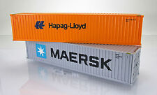 "Wiking 001813 Zubehörpackung:  40-Fuß-Container "" Maersk ""  &  "" Hapag-Lloyd """
