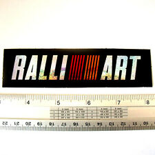 "Mitsubishi Ralliart Car Racing Decals Sticker Reflective Light 1.25x5"" Red Orang"
