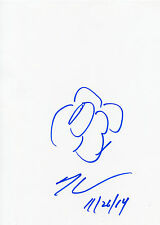DESSIN ORIGINAL ET AUTOGRAPHE De Jeff KOONS (signed sketch in person)