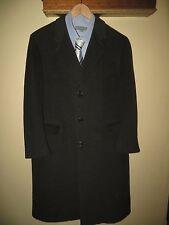 Yves Saint Laurent France Mens Cashmere Wool Charcoal Grey Coat Suit Jacket 44 R
