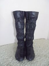Womens SOREL Boots Black Knee High Mukluks Ruched Tied Womens 10M
