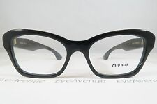 Miu Miu VMU 05O 1AB-1O1 Black Crystal Rocks New Authentic Eyeglasses 53mm