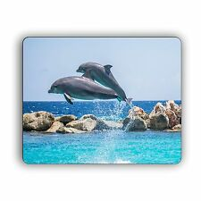 Dolphins Jumping Computer Mouse Pad Nature Wildlife