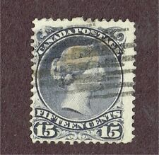 CANADA #30c DEEP VIOLET ON VERY THICK PAPER FINE LARGE QUEEN  (JULY23