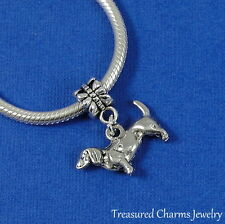 Silver Dachshund Wiener Dog Dangle Bead Charm fits European Bracelets - New