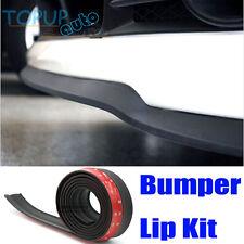 BLACK CAR FRONT BUMPER LIP SPLITTER BODY SPOILER VALENCE CHIN SKIRT PROTECTOR