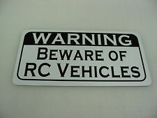 WARNING BEWARE OF RC VEHICLES Metal Sign 4 Remote Control Cars Trucks Planes