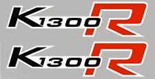 2 ADESIVI SERBATOIO per MOTO BMW K1300R K1300 STICKERS K 1300 R NERO-ROSSO 15x4