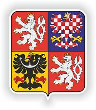 1x STICKER Coat of arms of the Czech Republic bumper