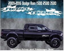 2009-2016 Dodge Ram Rebel Door Badge Vinyl Decal Graphic Truck 1500 2500 3500