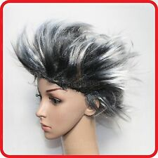 WILD PUNK ROCK STAR SPIKE SPIKY STYLE WIG HAIR-PARTY-FANCY DRESS-COSTUME-COSPLAY