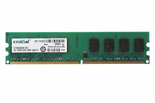 Crucial 2GB PC2-6400U 2RX8 DDR2 800MHz DIMM Desktop unbuffered Memory RAM 1.8V