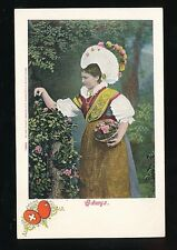 Switzerland SCHWYZ traditional dress fashion costume c1900/10s? PPC