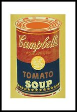 Warhol Colored Campbell's Soup Can Poster Kunstdruck + Alurahmen schwarz 36x28cm