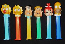 The Simpsons Loose Pez Flintstones BamBam Homer Marge Bart Lisa Maggie Lot of 6