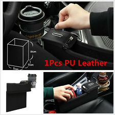 PU Car Seat Storage Box Catcher Gap Coin Collector Cup Holder For Passenger Side
