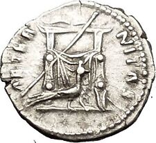 Faustina I Antoninus Pius wife RARE Silver Ancient Roman Coin Throne i53350