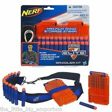 Nerf N-Strike Elite Bandolier Kit - Includes Strap, 2 Reload Clips & 24 Darts