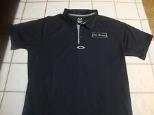 Oakley Ohydrolix Black Golf Polo Shirt Mens Regular Fit Size Large L