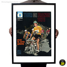 Grand tour de france 1970 magazine cover imprimer, eddy merckx, poulidor, cyclisme