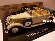 voiture 1/43 ixo altaya MERCEDES : 770 Cabriolet F 1930
